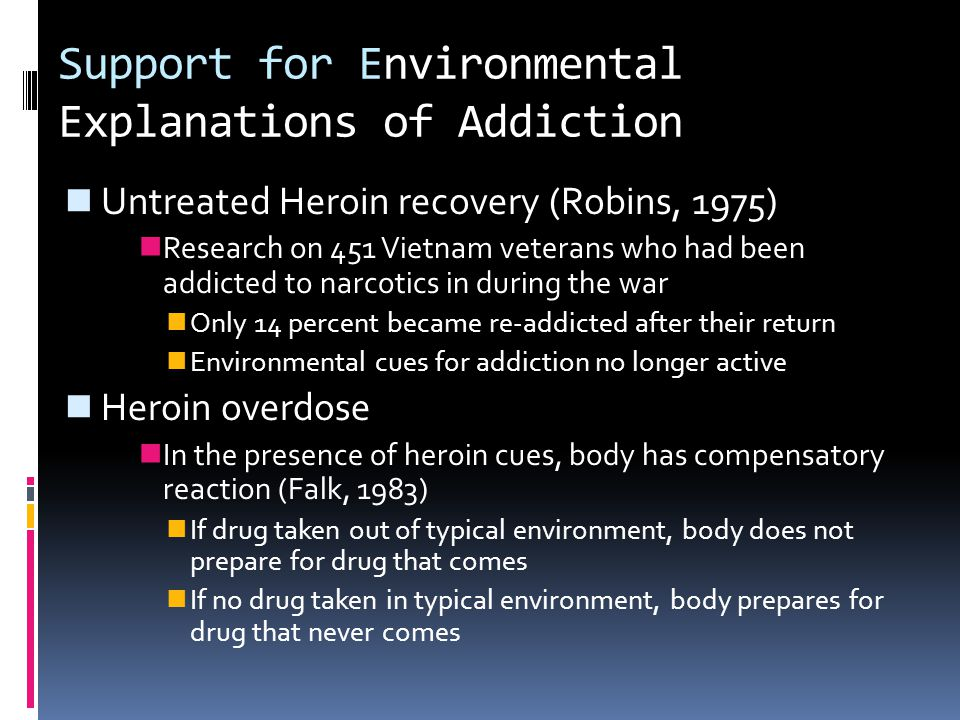 Support for Environmental Explanations of Addiction