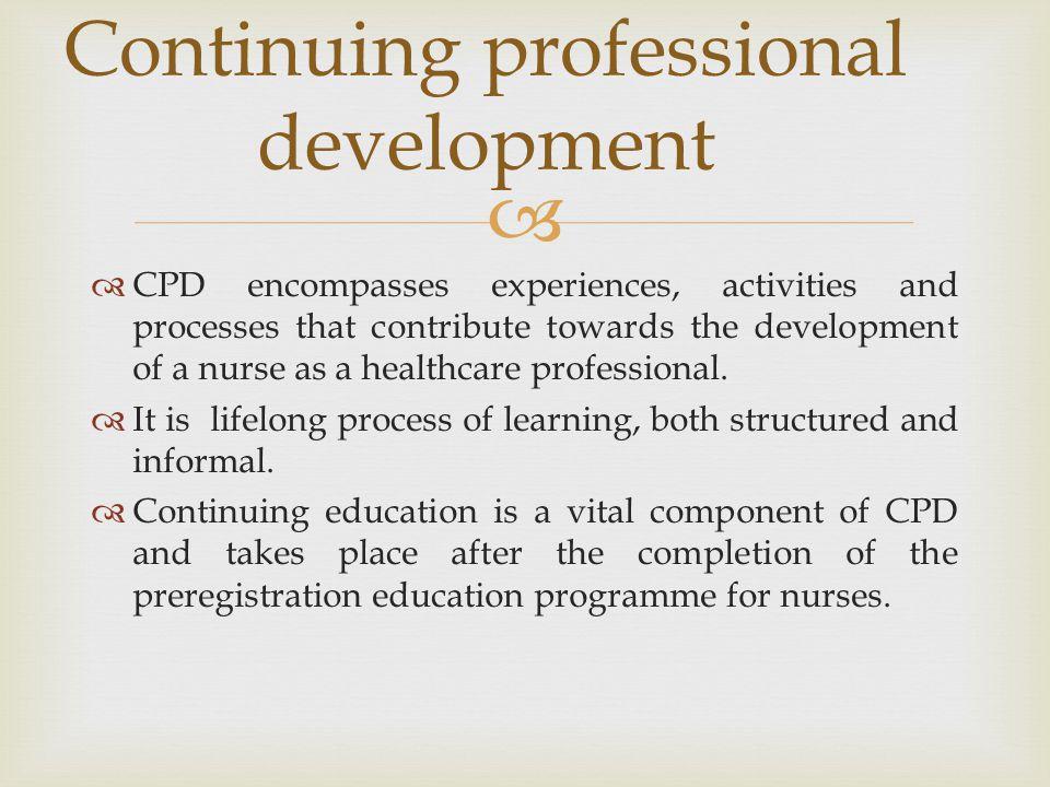 Continuing professional development