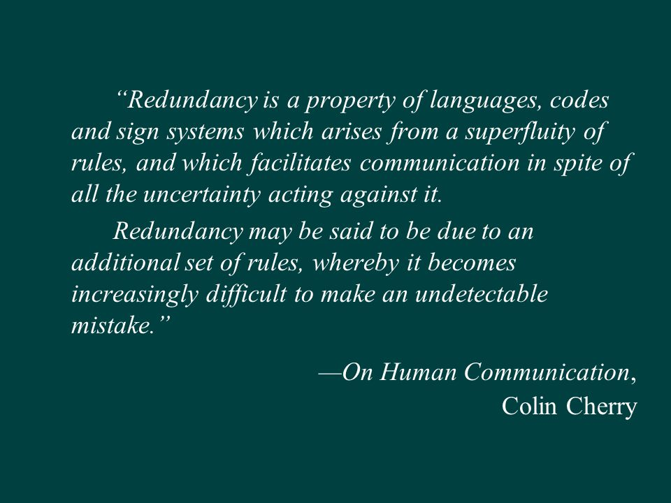 —On Human Communication, Colin Cherry