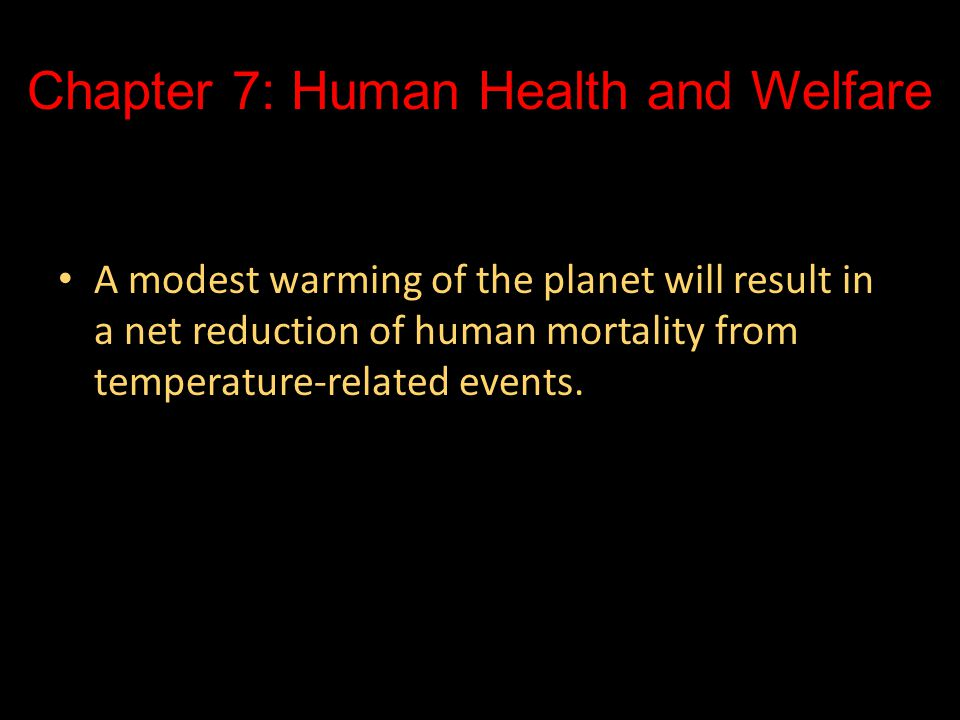 Chapter 7: Human Health and Welfare