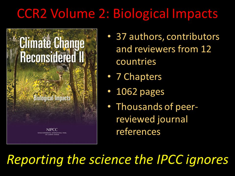 CCR2 Volume 2: Biological Impacts