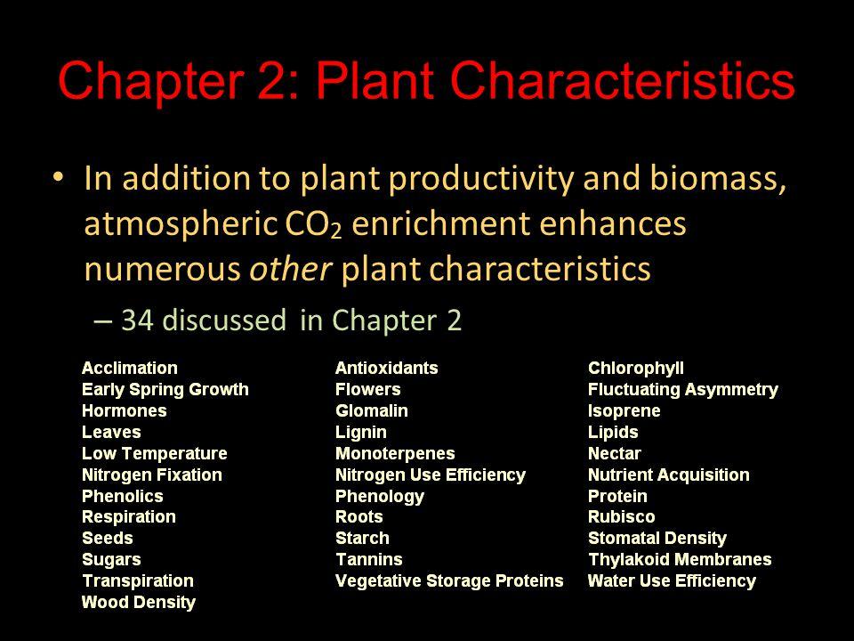 Chapter 2: Plant Characteristics