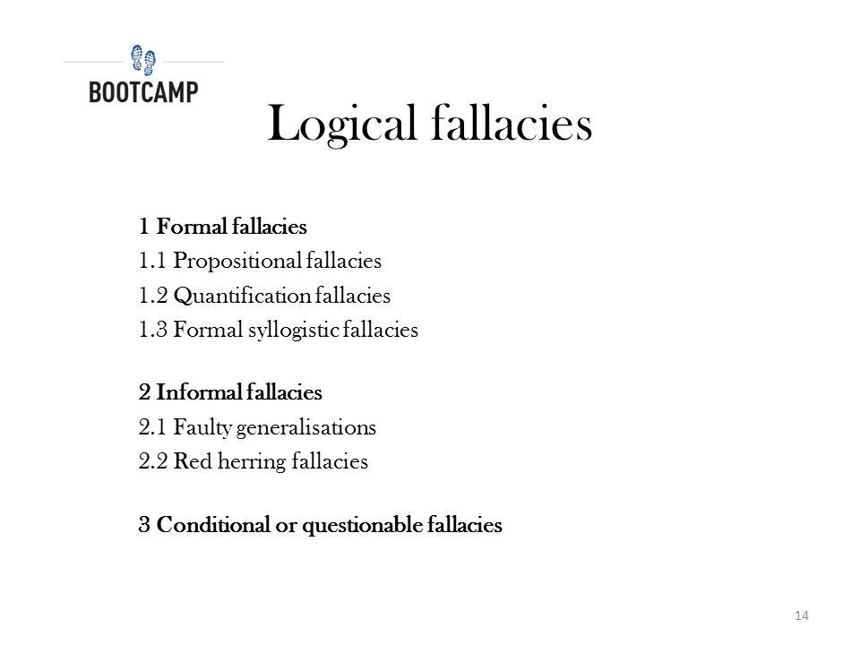 Logical fallacies 1 Formal fallacies 1.1 Propositional fallacies