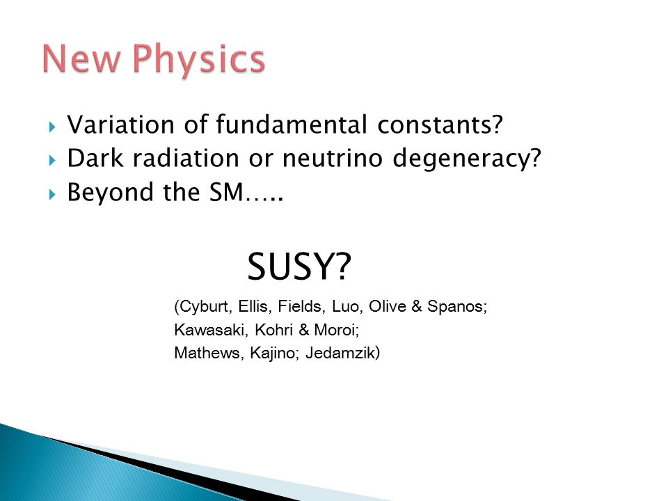 New Physics SUSY Variation of fundamental constants