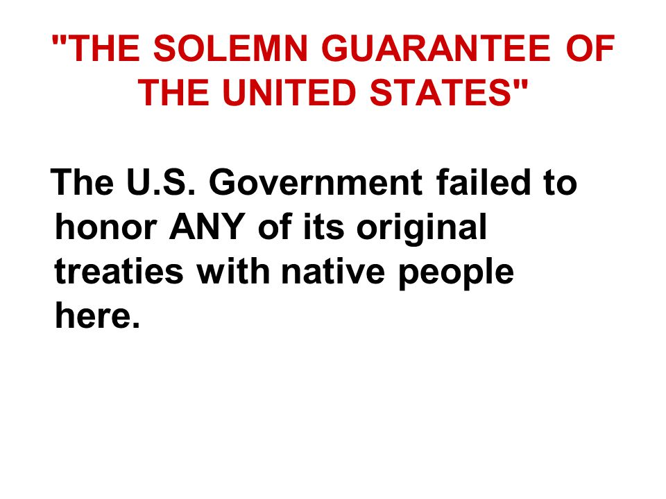 THE SOLEMN GUARANTEE OF THE UNITED STATES