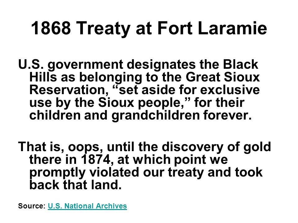 1868 Treaty at Fort Laramie