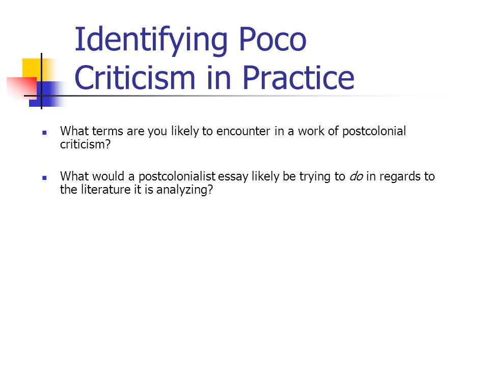 Identifying Poco Criticism in Practice