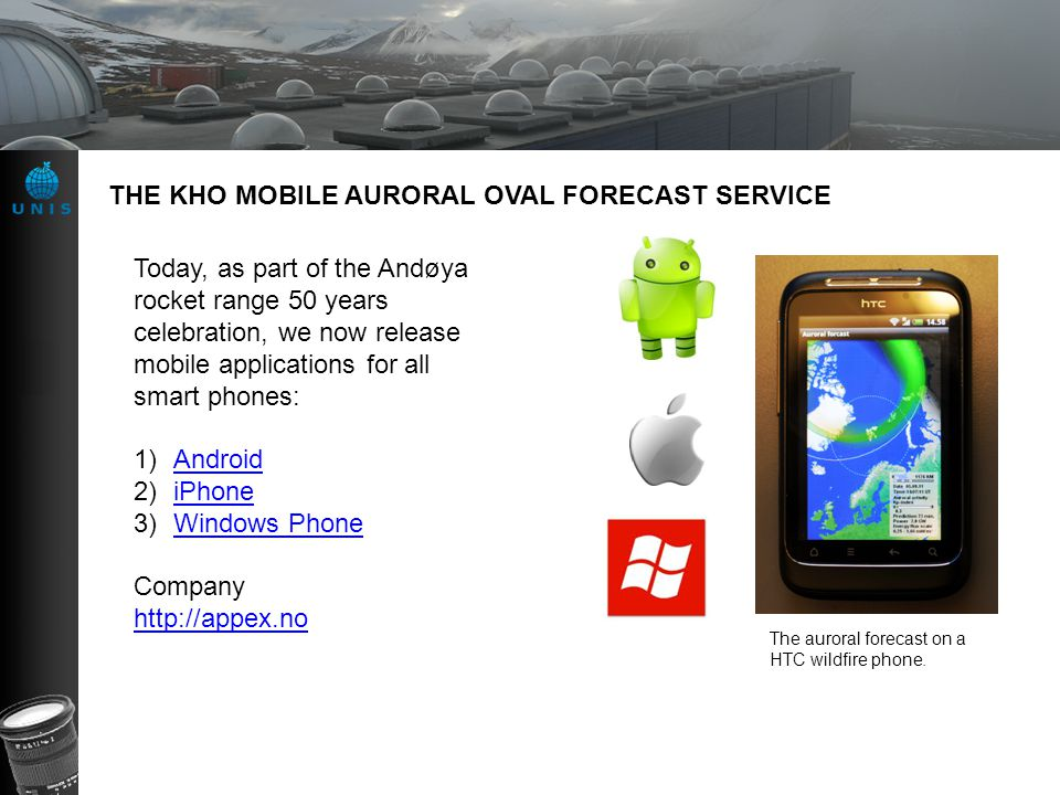 THE KHO MOBILE AURORAL OVAL FORECAST SERVICE