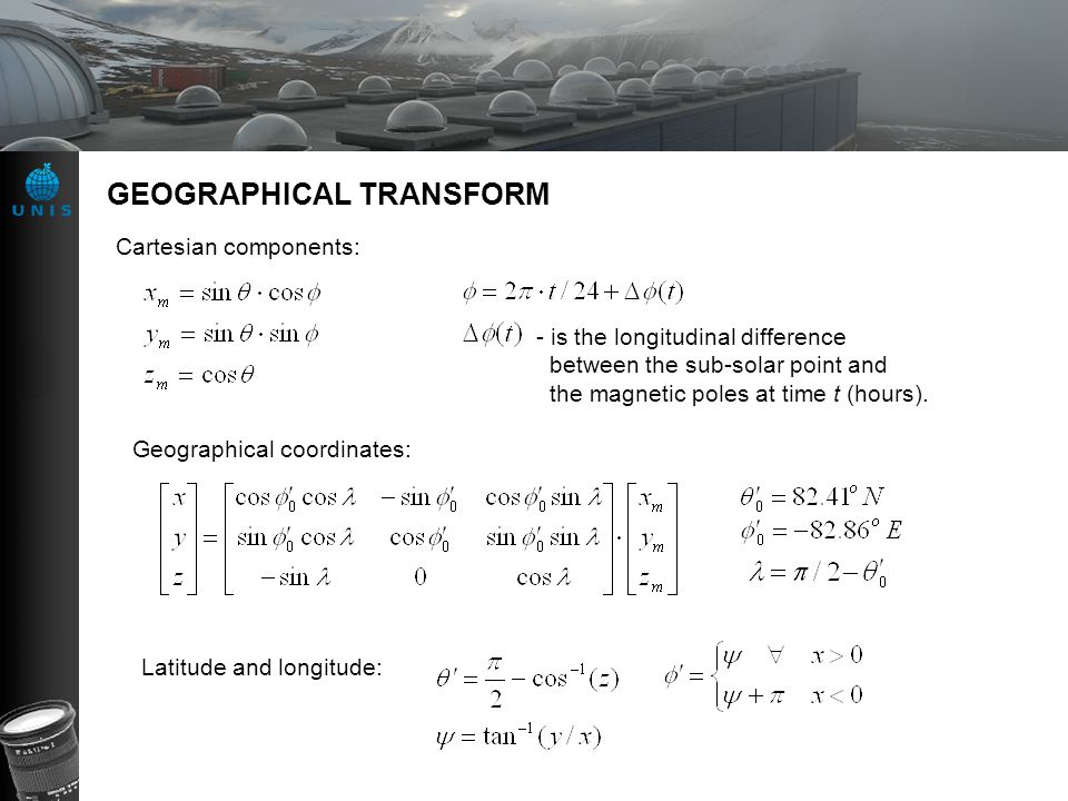 GEOGRAPHICAL TRANSFORM