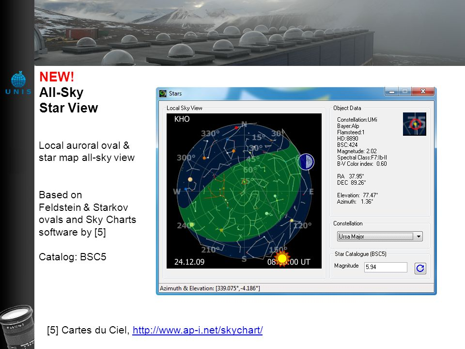 NEW! All-Sky Star View Local auroral oval & star map all-sky view