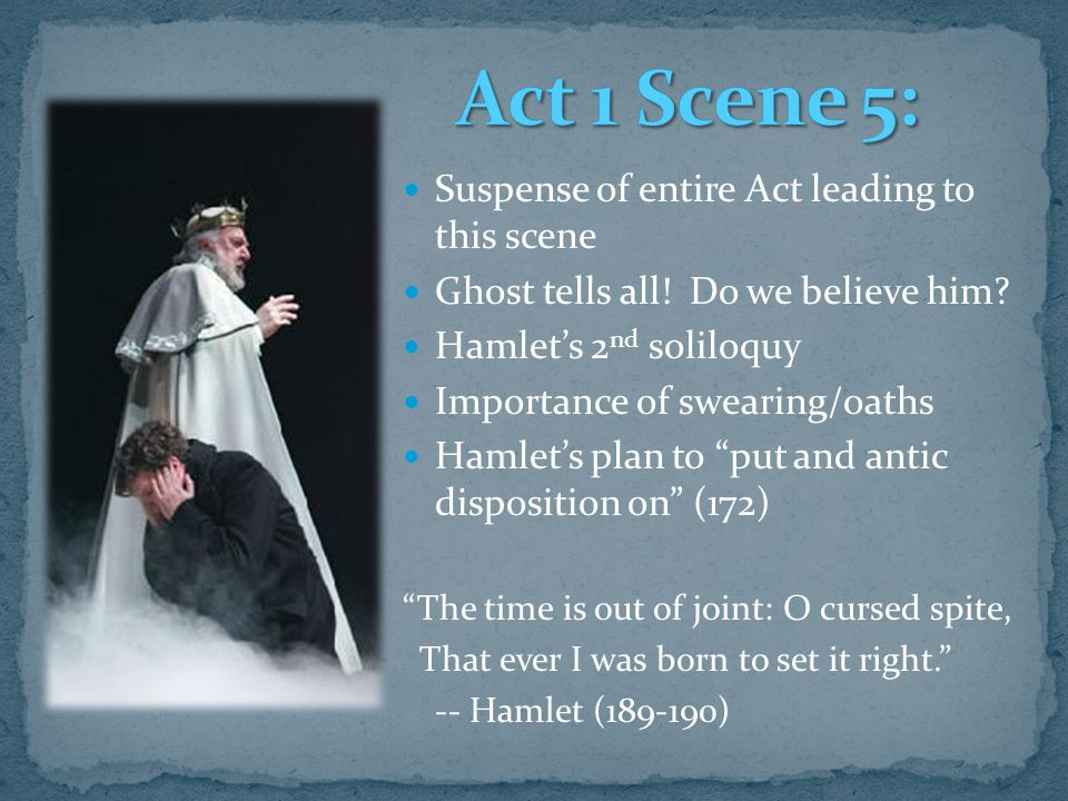 The Analytical Breakdown of Hamlet, Act 1 - ppt download