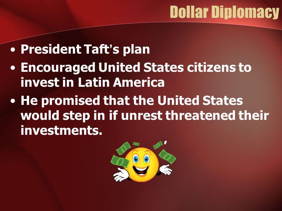 Dollar Diplomacy President Taft's plan