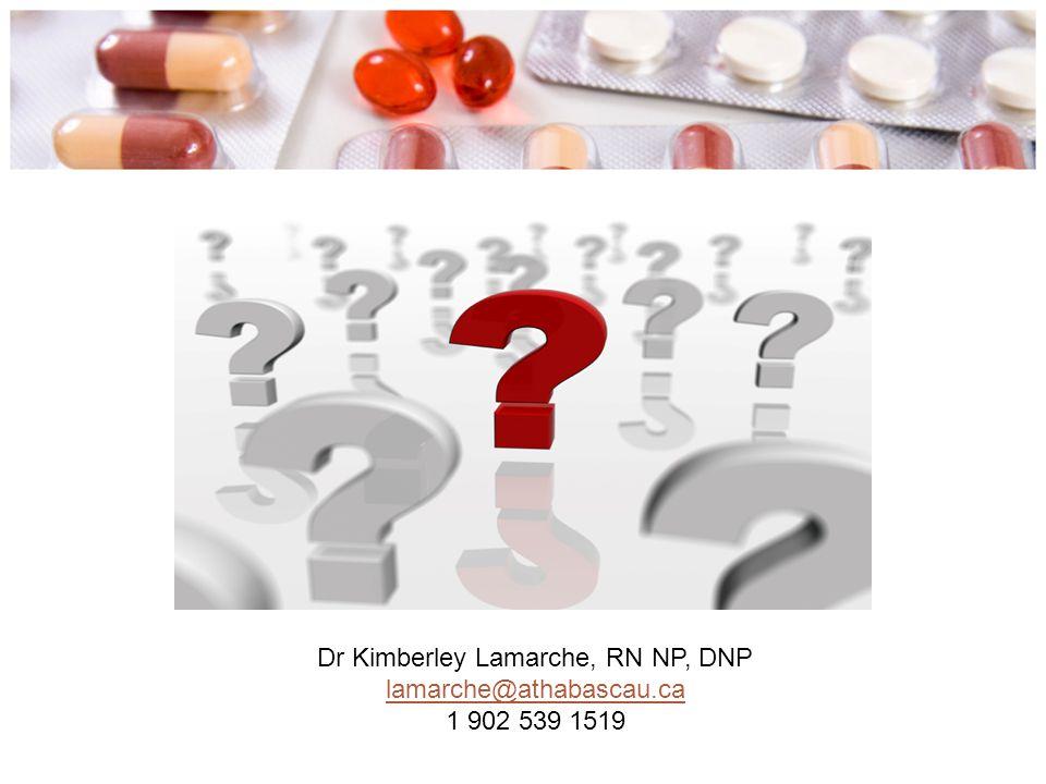 Dr Kimberley Lamarche, RN NP, DNP