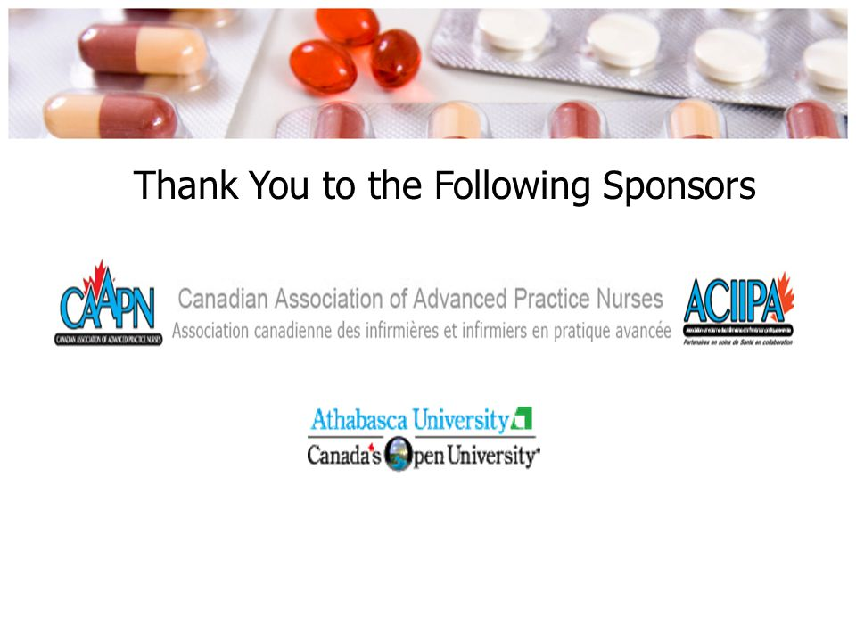 Thank You to the Following Sponsors