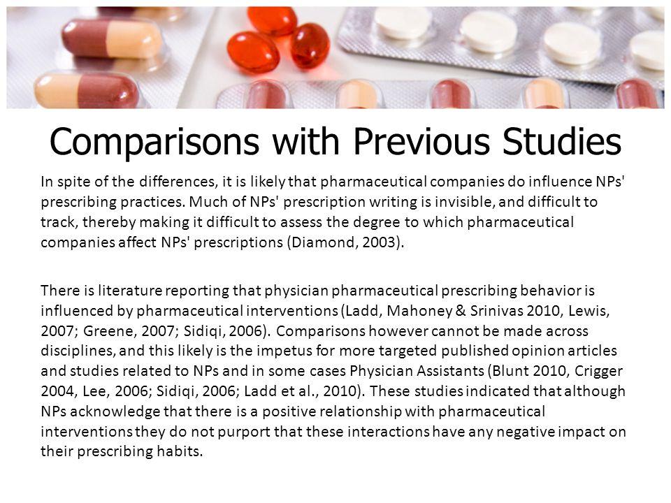 Comparisons with Previous Studies