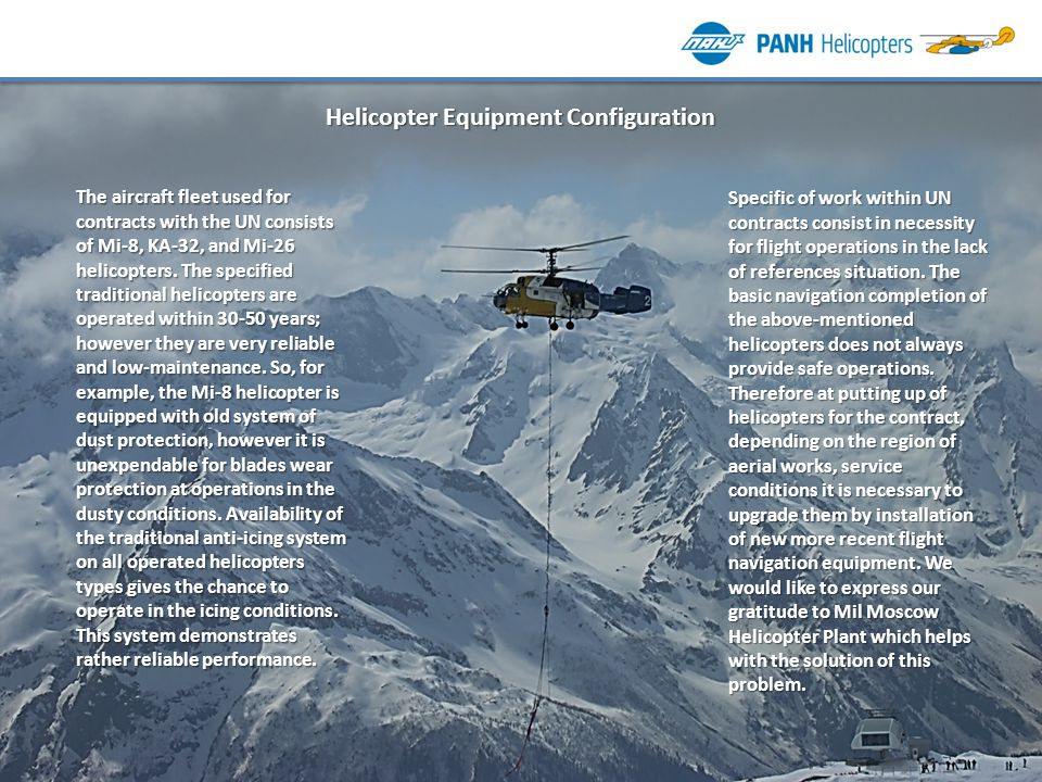Helicopter Equipment Configuration
