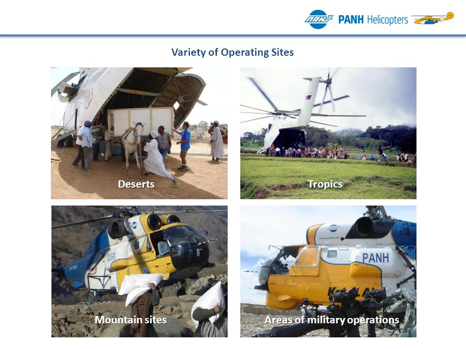 Variety of Operating Sites