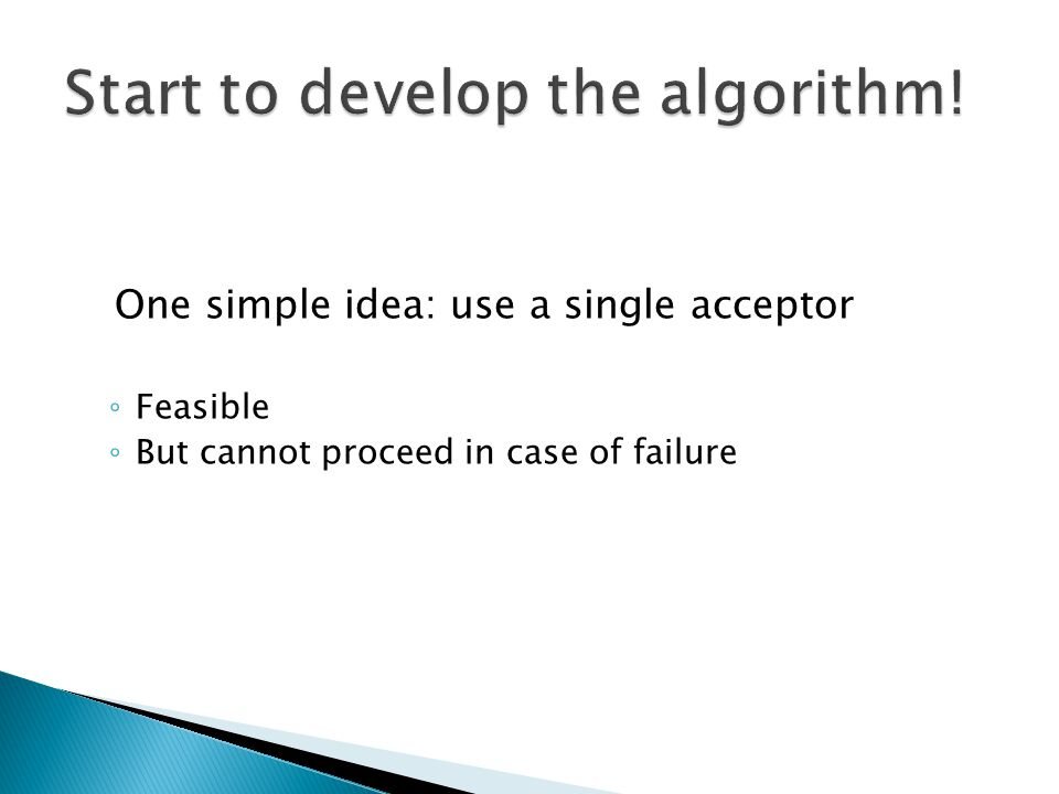 Start to develop the algorithm!
