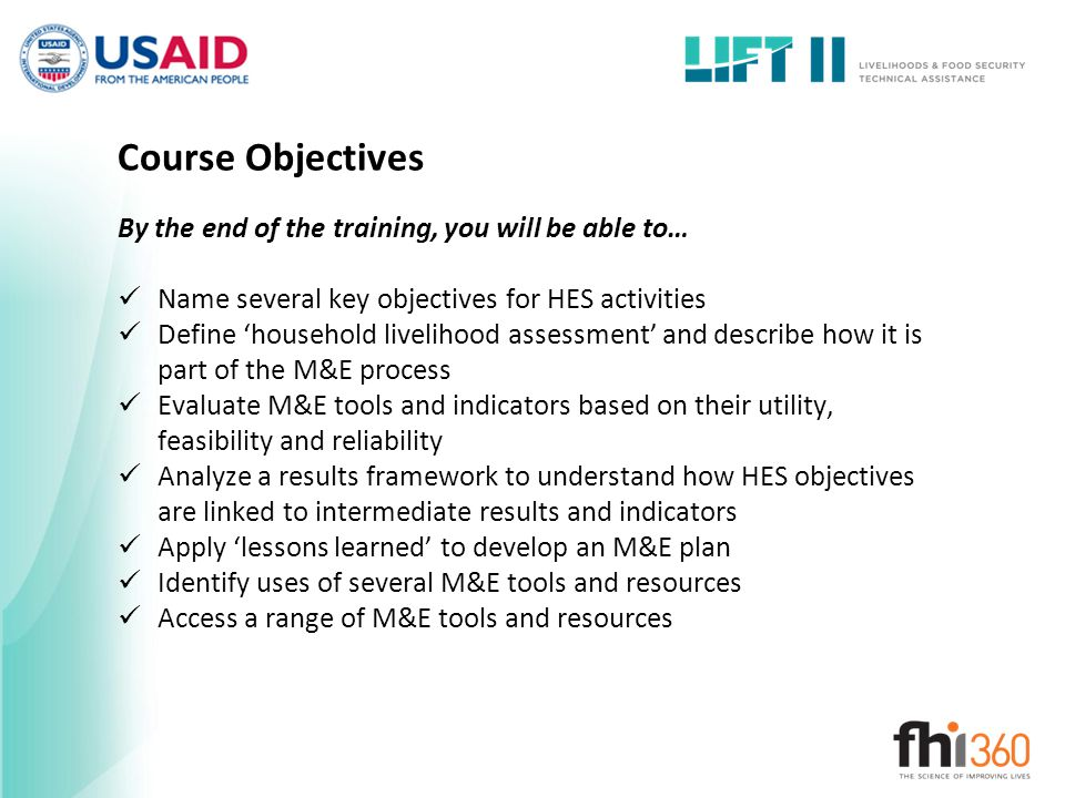Course Objectives By the end of the training, you will be able to…