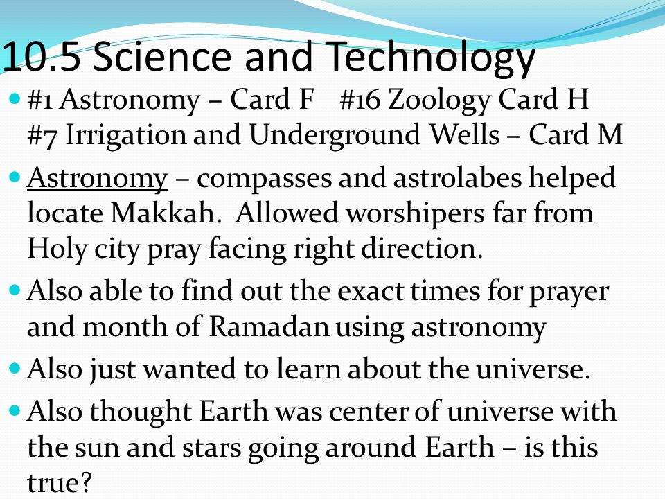 10.5 Science and Technology