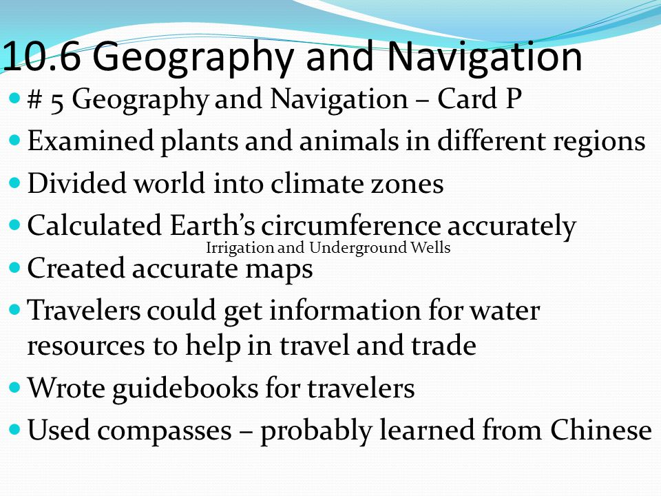 10.6 Geography and Navigation