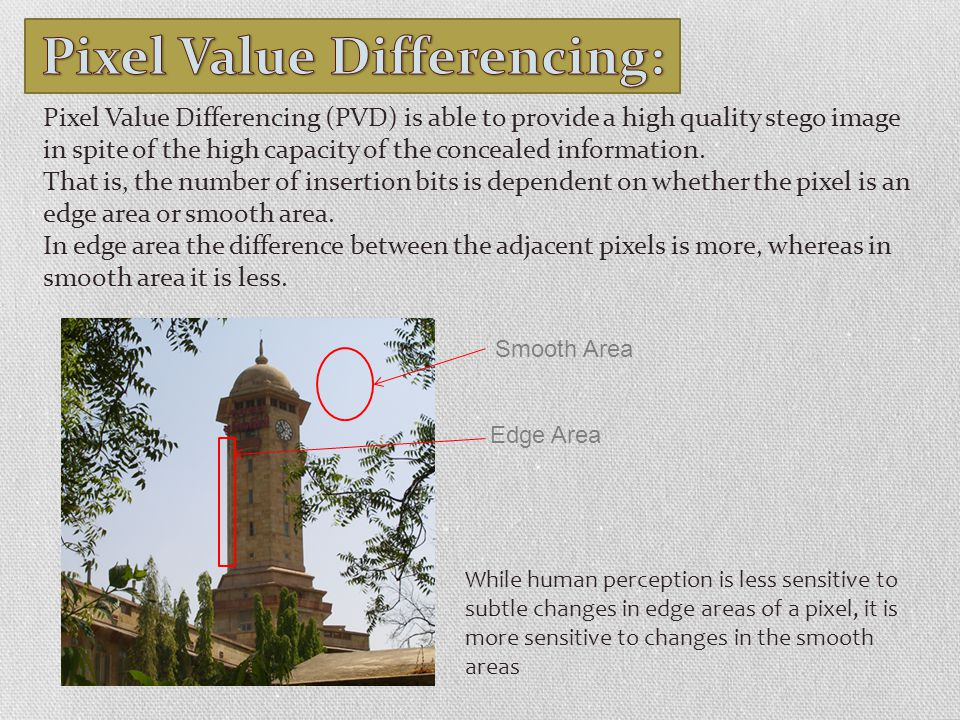 Pixel Value Differencing: