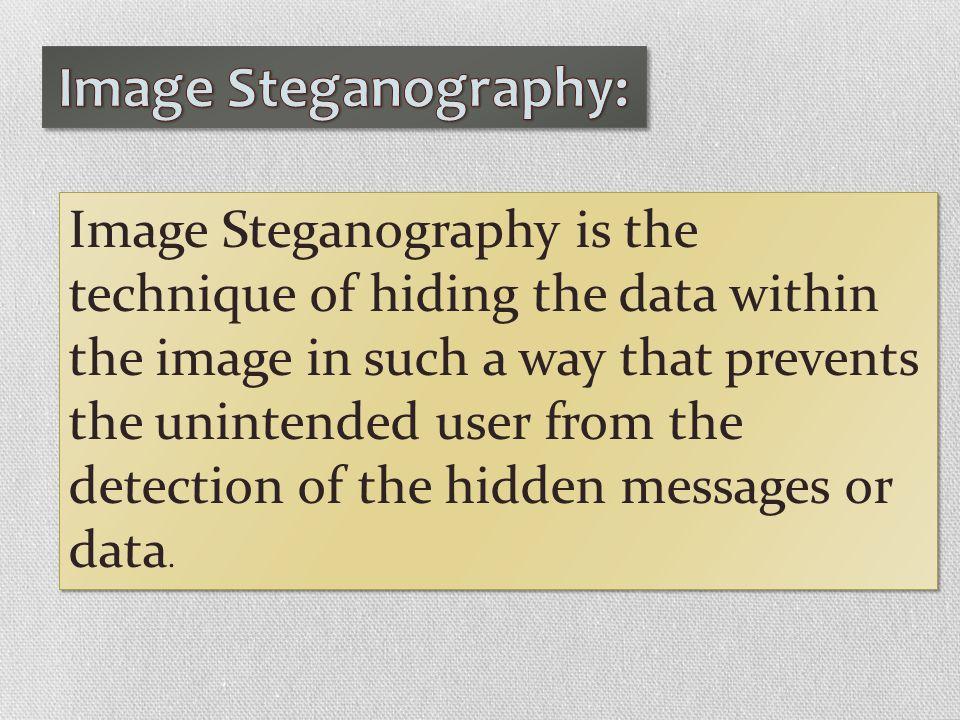 Image Steganography: