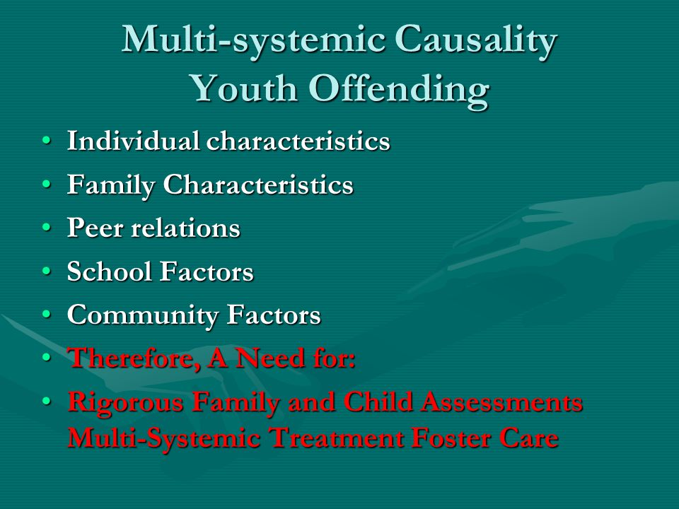Multi-systemic Causality Youth Offending