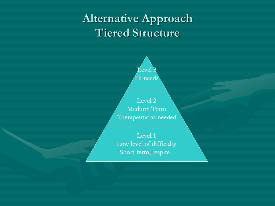 Alternative Approach Tiered Structure