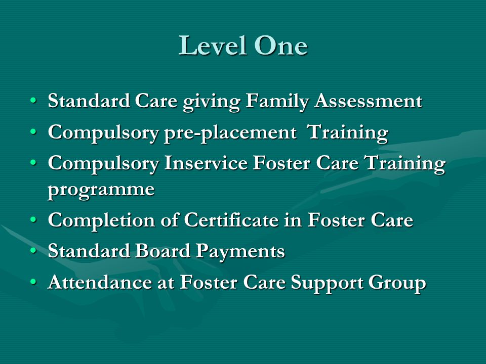 Level One Standard Care giving Family Assessment