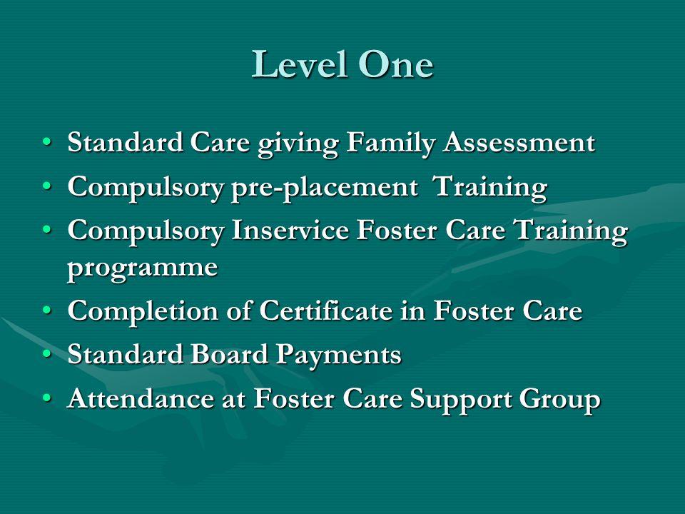 Level One Standard Care giving Family Assessment