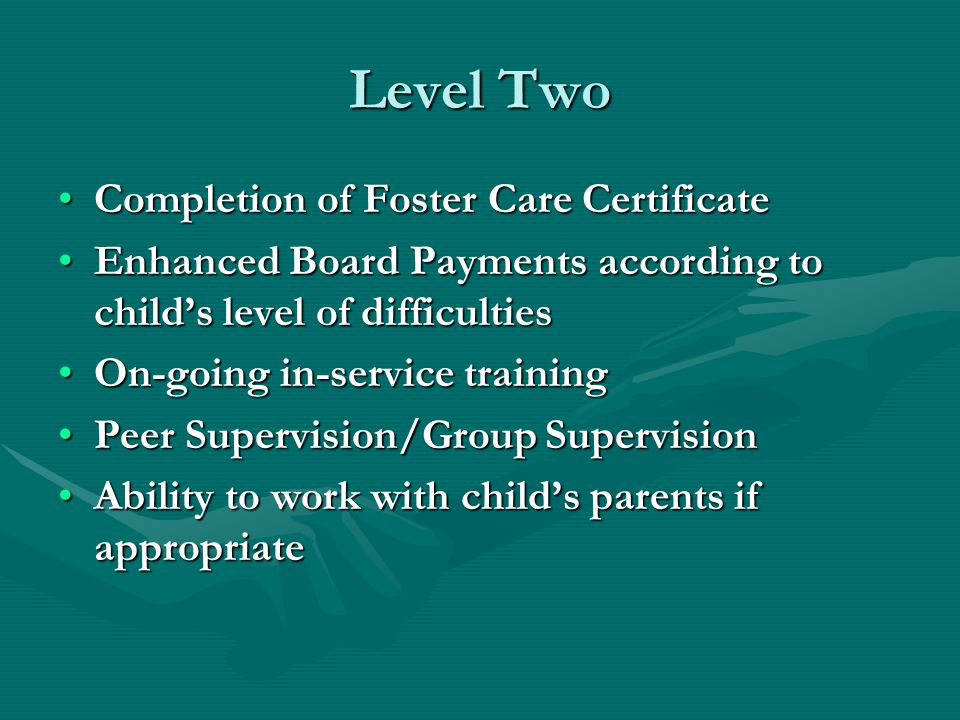 Level Two Completion of Foster Care Certificate