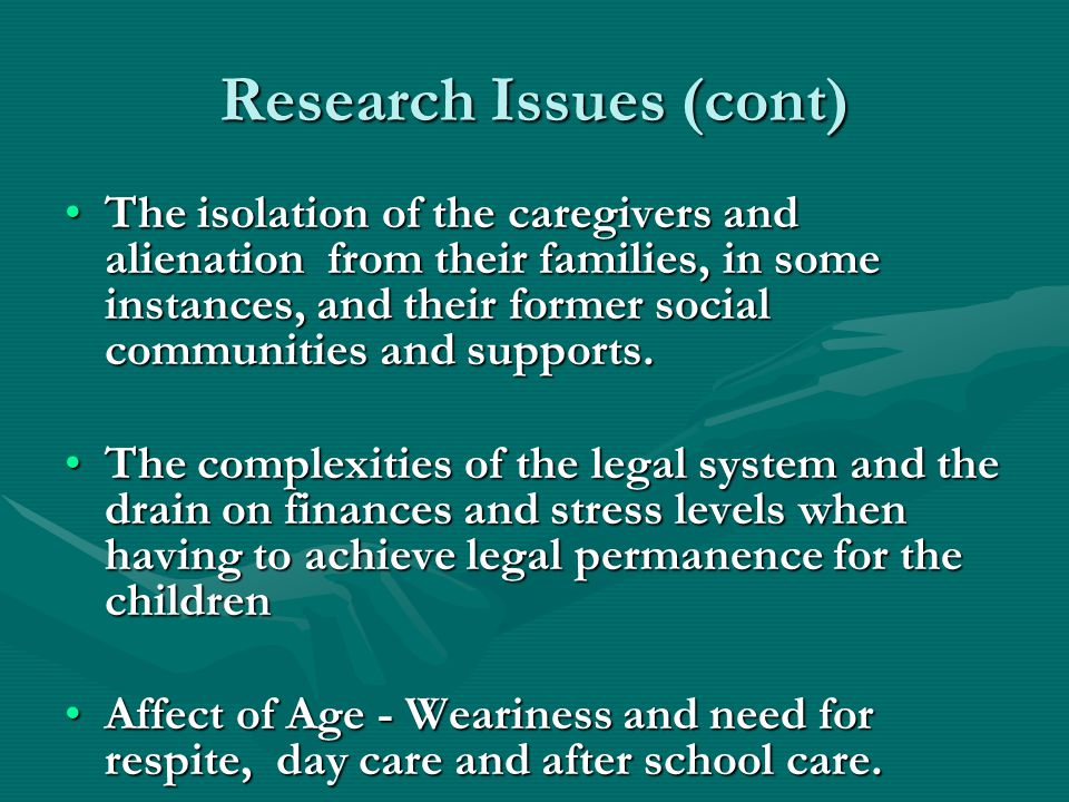 Research Issues (cont)