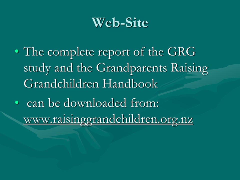 Web-Site The complete report of the GRG study and the Grandparents Raising Grandchildren Handbook.