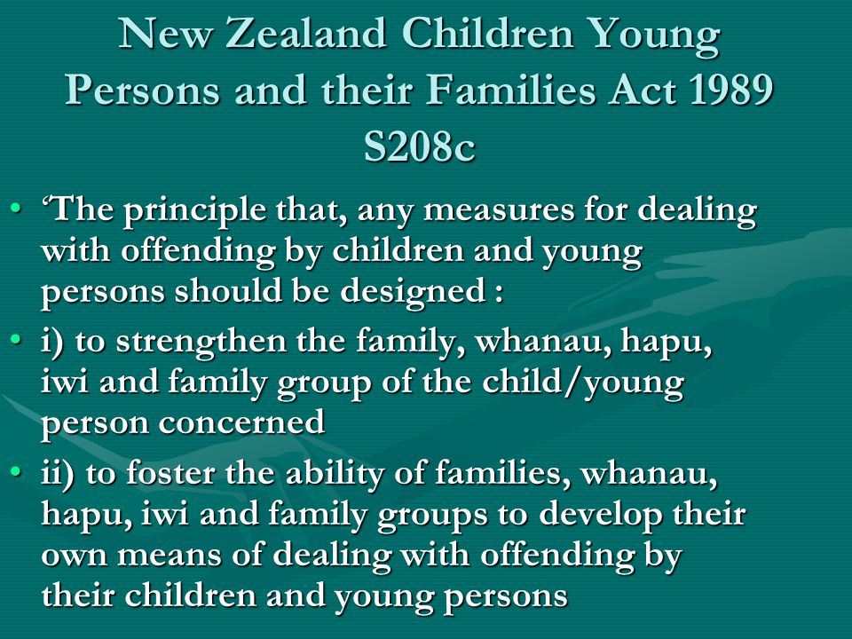 New Zealand Children Young Persons and their Families Act 1989 S208c