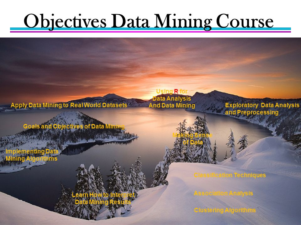 Objectives Data Mining Course
