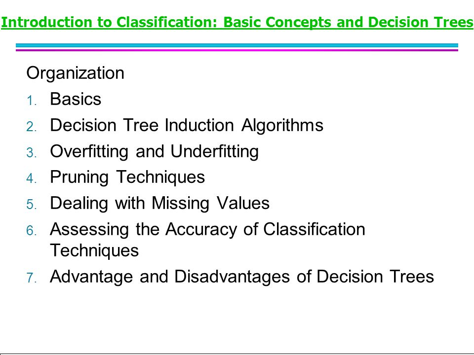 Introduction to Classification: Basic Concepts and Decision Trees