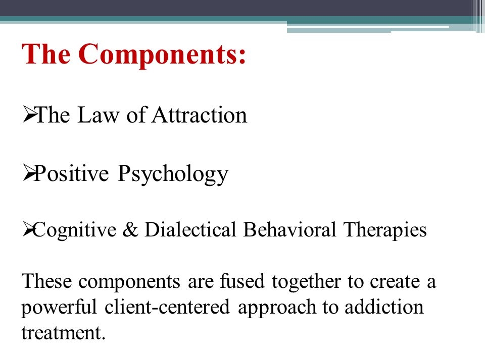 The Components: The Law of Attraction Positive Psychology