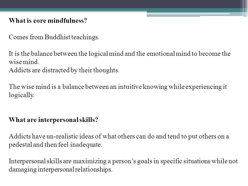 What is core mindfulness