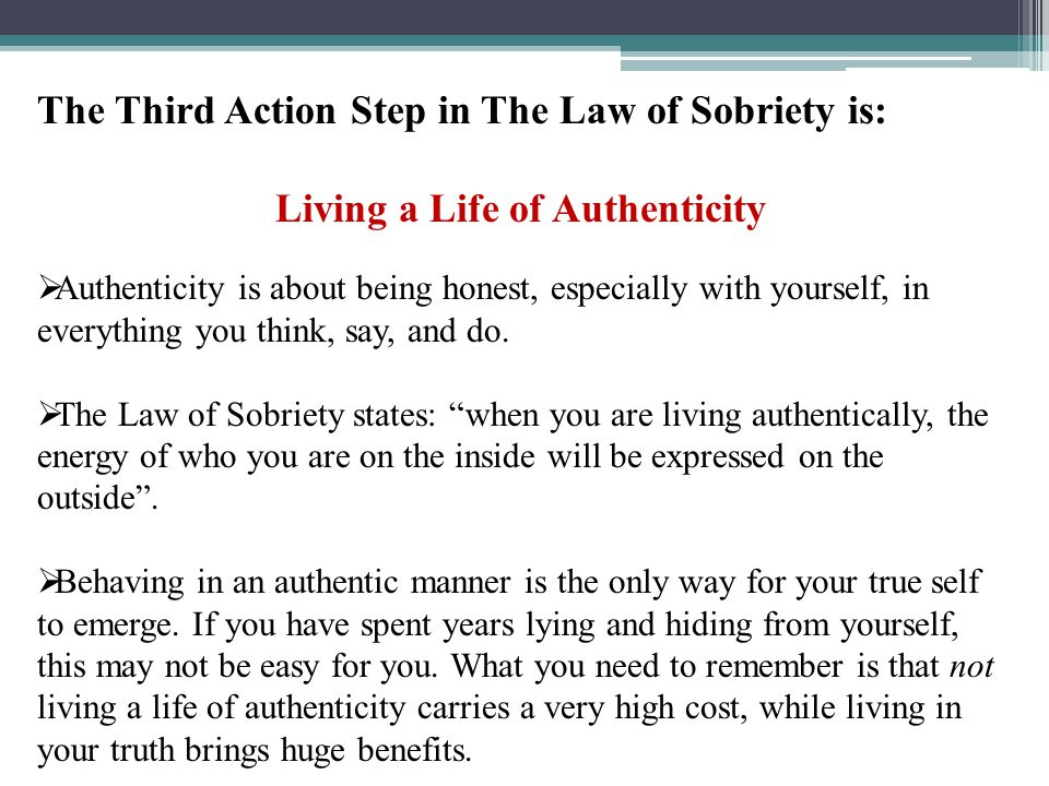 Living a Life of Authenticity