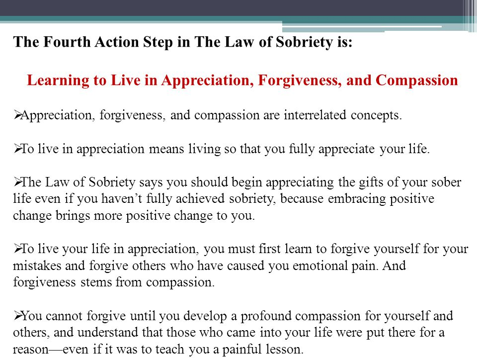 Learning to Live in Appreciation, Forgiveness, and Compassion