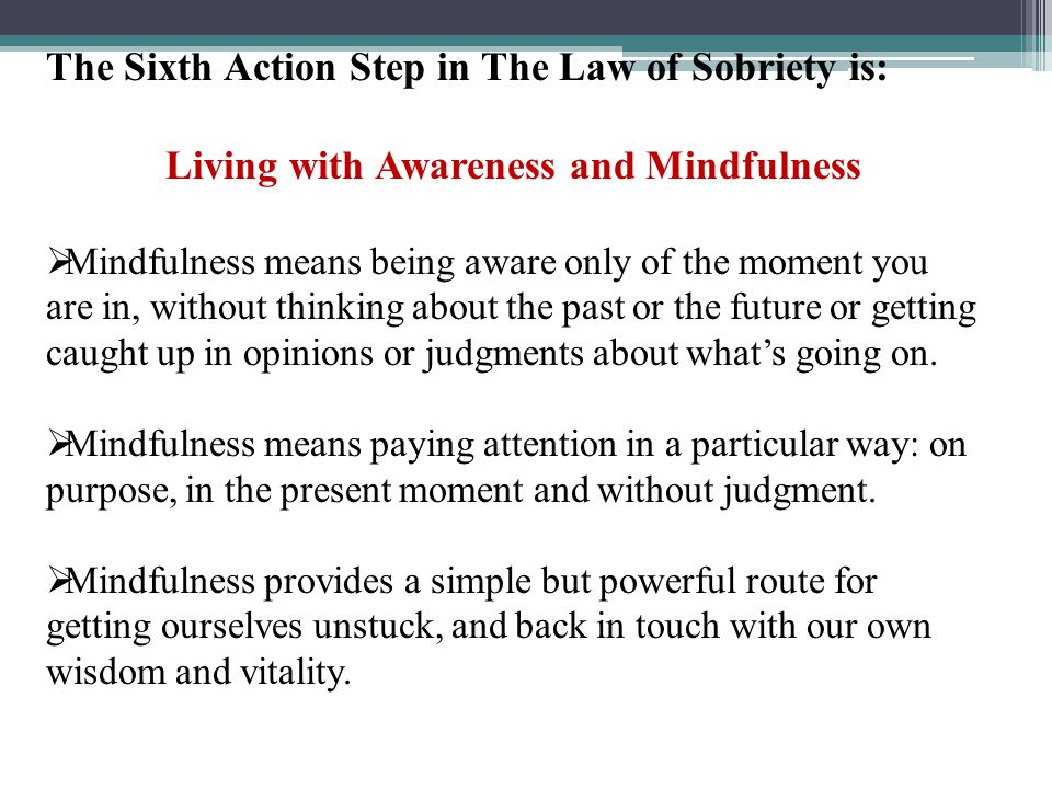 Living with Awareness and Mindfulness