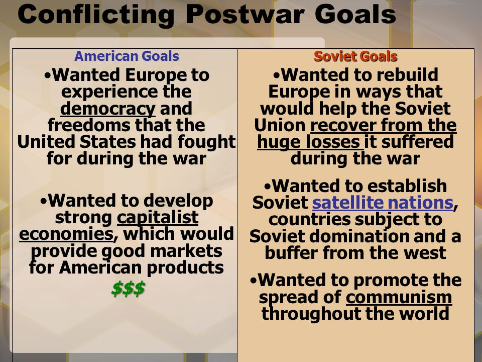 Conflicting Postwar Goals
