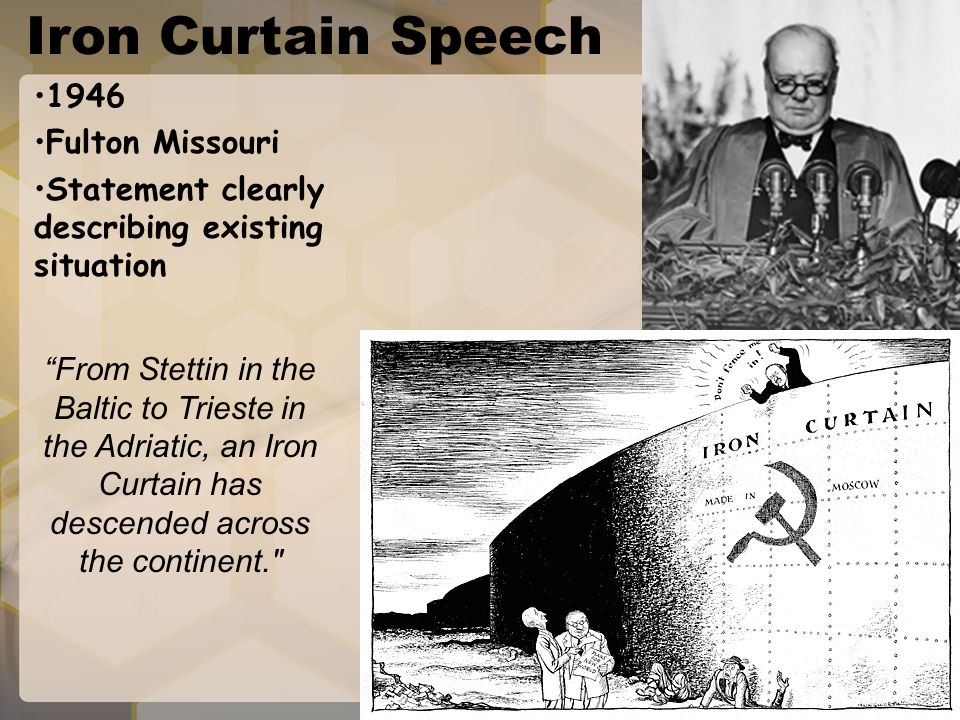 Iron Curtain Speech 1946 Fulton Missouri
