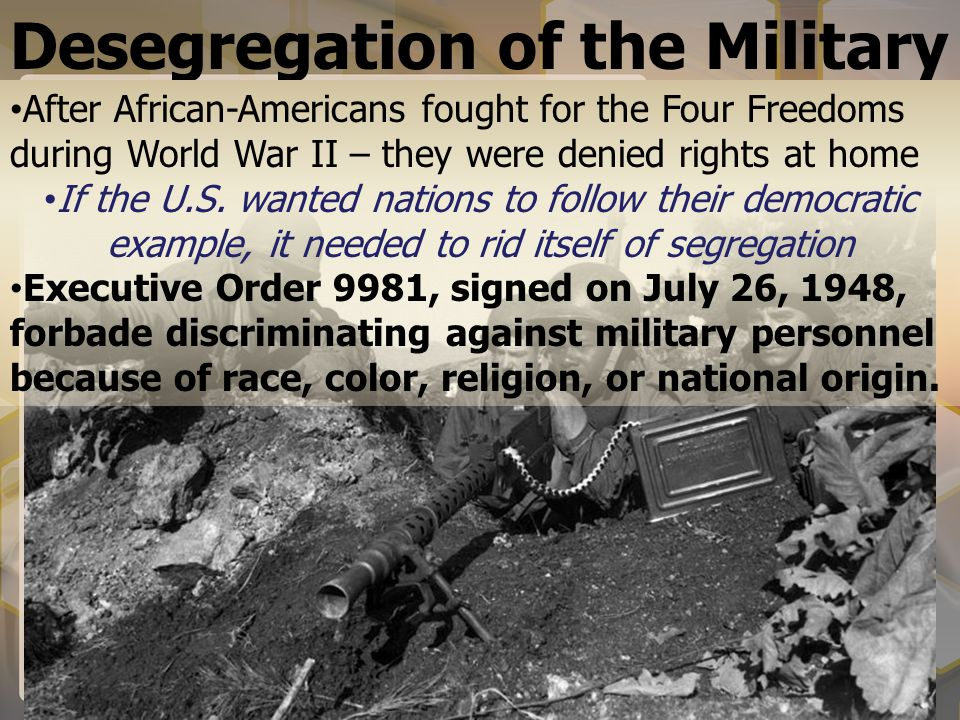 Desegregation of the Military