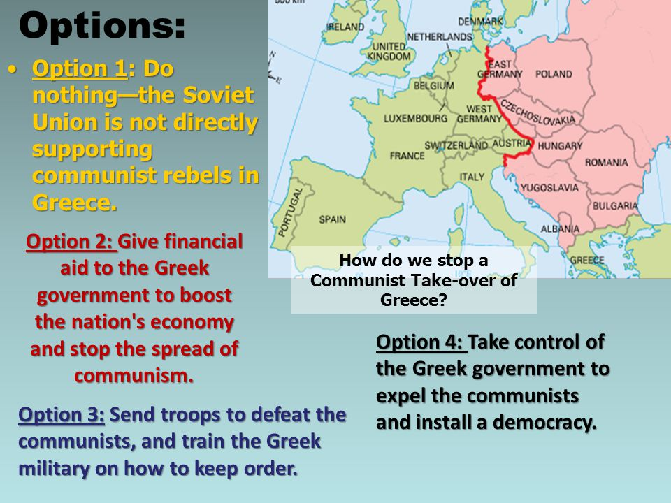 How do we stop a Communist Take-over of Greece