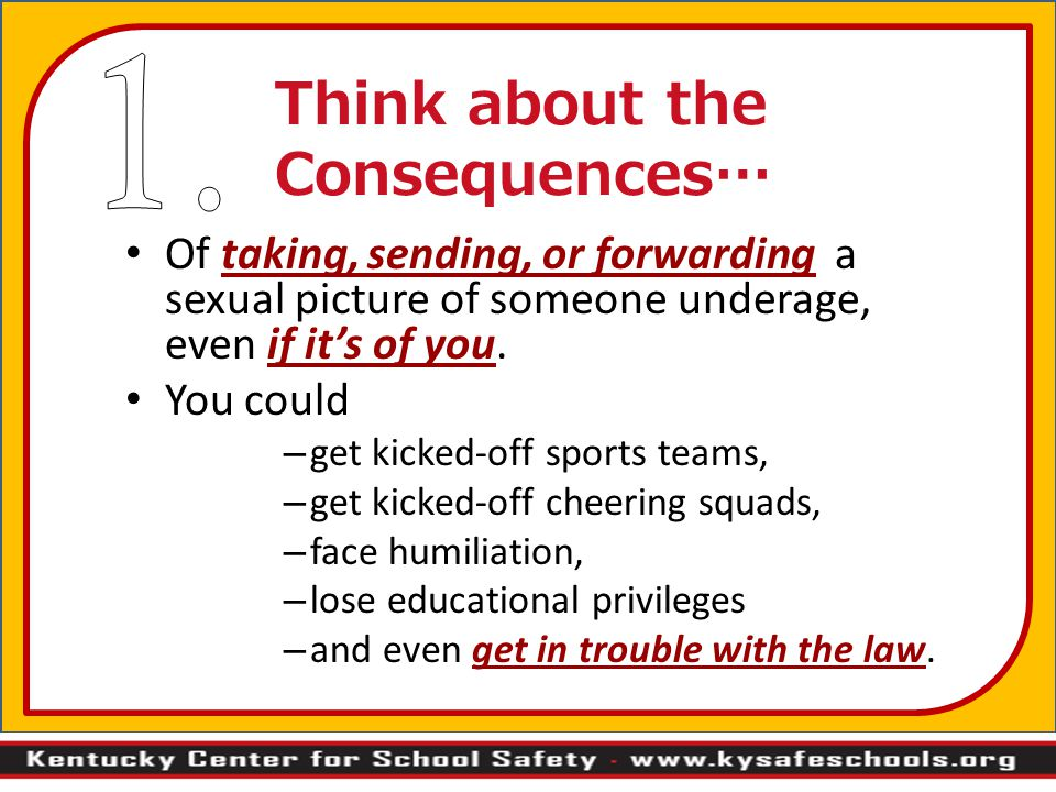 Think about the Consequences…