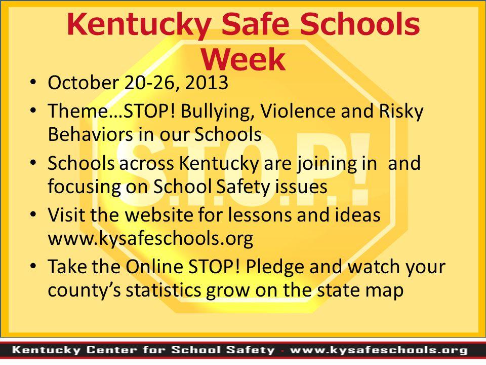 Kentucky Safe Schools Week