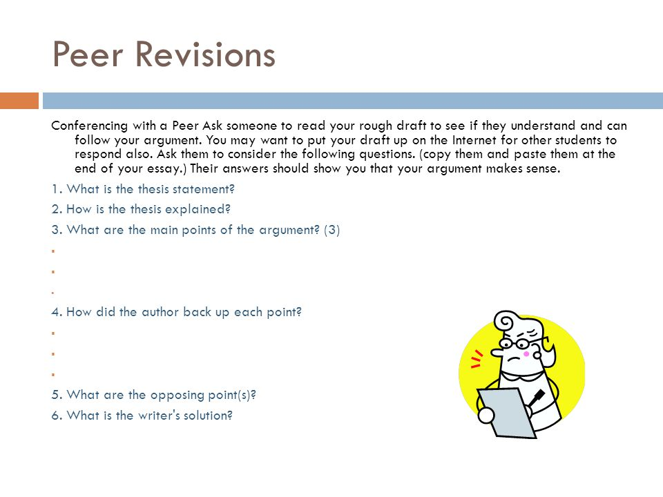 Peer Revisions