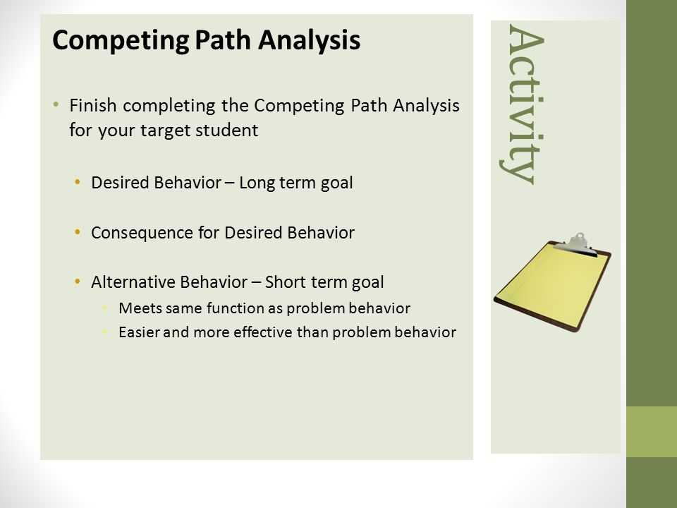 Activity Competing Path Analysis